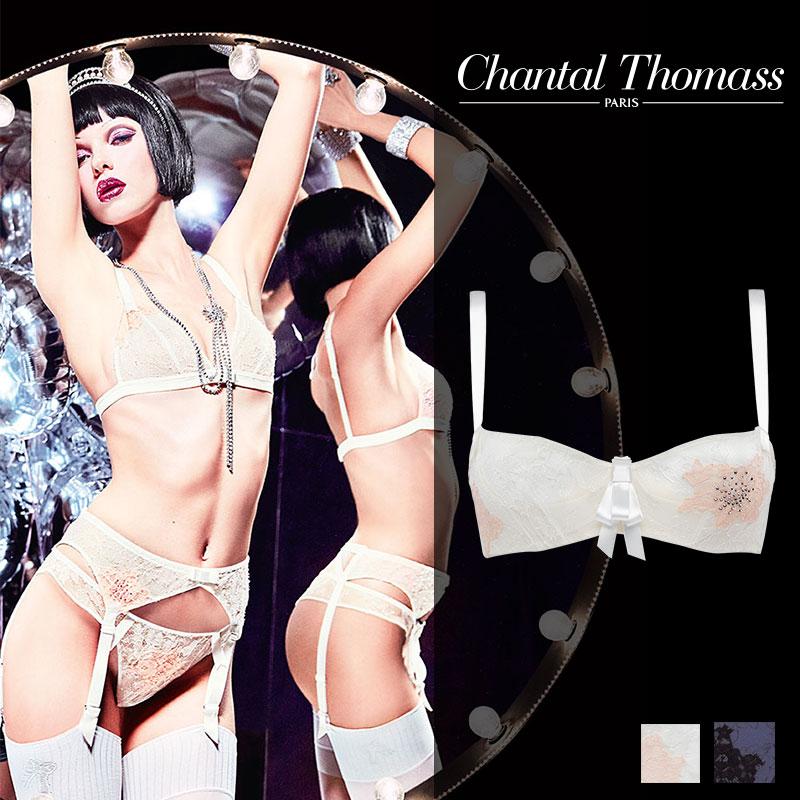 【50%オフ】SALE!フランス【ChantalThomass】シャンタルトーマスTombeuse(トムベウス)Milk/Pinkカラーバルコネットブラ
