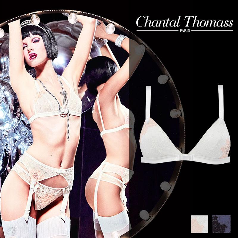 【50%オフ】SALE!フランス【ChantalThomass】シャンタルトーマスTombeuse(トムベウス)Milk/Pinkカラートライアングルブラ