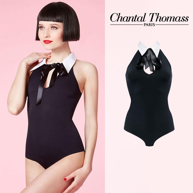 【50%オフ】フランス【ChantalThomass】シャンタルトーマスLady cut and sewn bodysuitボディスーツ(T06150)