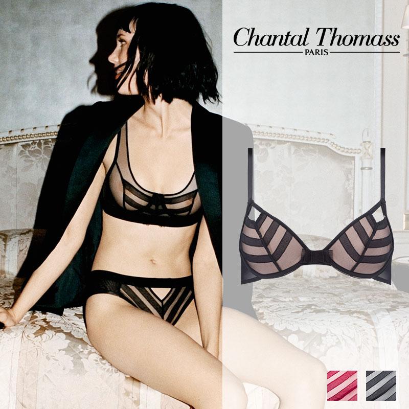 新作登場!フランス【ChantalThomass】シャンタルトーマスInfluenteパデッドブラ Blackカラー(T04A20)
