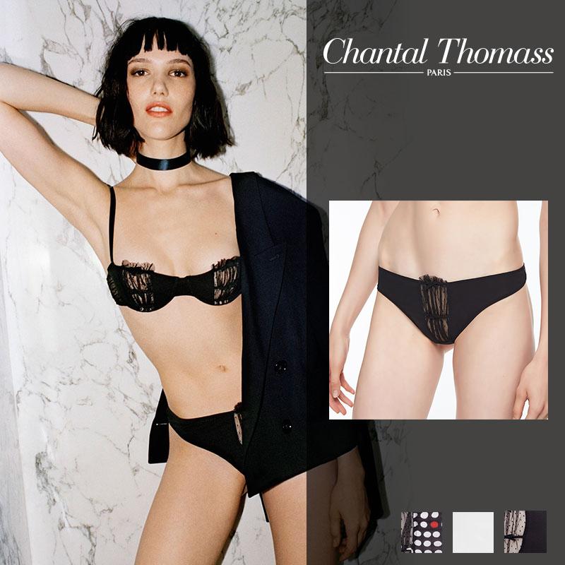 【30%オフ】【ChantalThomass】シャンタルトーマスFRIVOLE BLACKカラータンガ