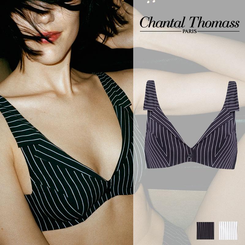 【新作】フランス【ChantalThomass】シャンタルトーマスGalanterie ワイヤーブラ Black chalk stripesカラー(T06A10)