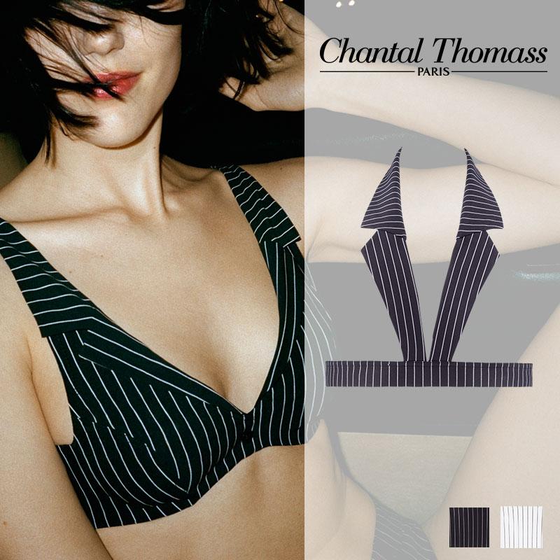 【新作】フランス【ChantalThomass】シャンタルトーマスGalanterie セクシーブラ Black chalk stripesカラー(T06A60)