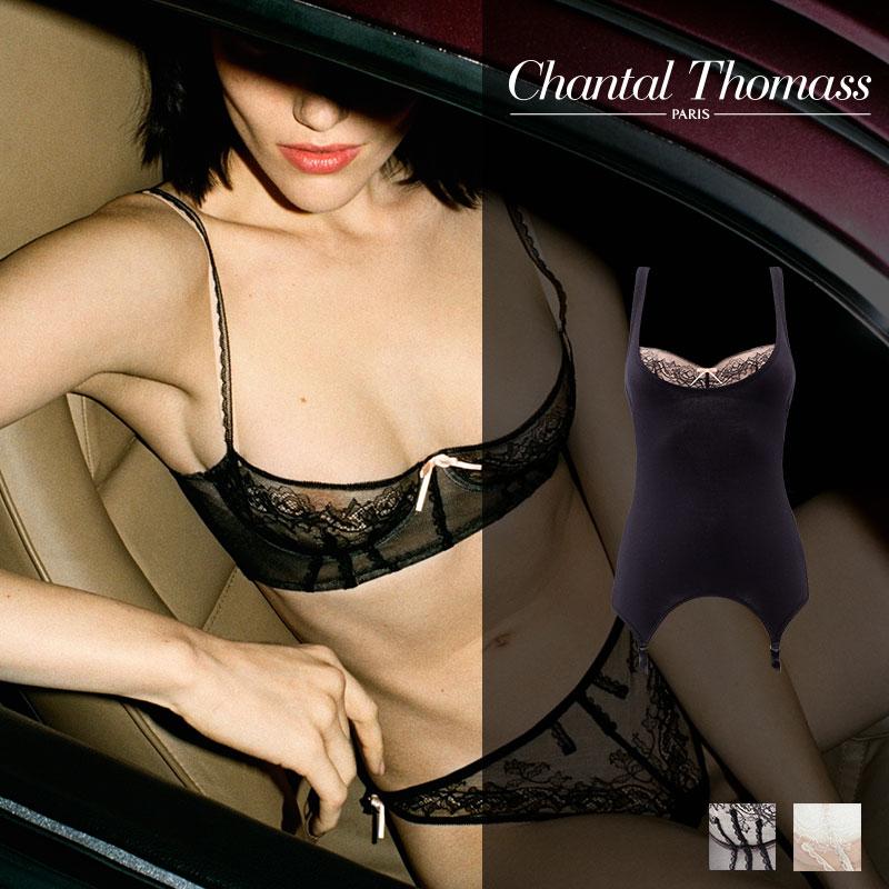 【新作】フランス【ChantalThomass】シャンタルトーマスGracieuse ビスチェ Blackカラー(T08A90)