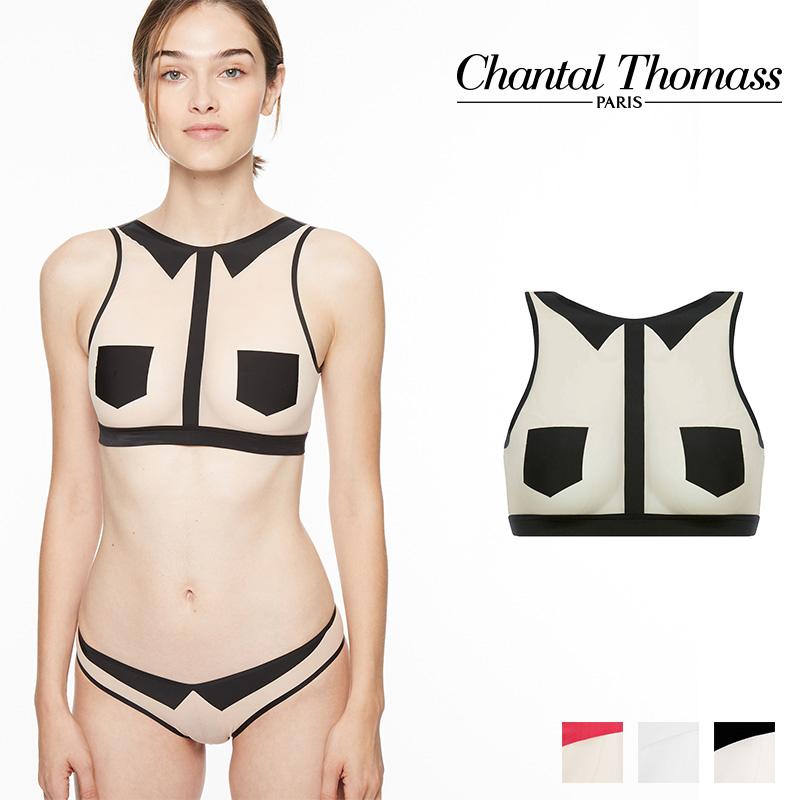 【新作】フランス【ChantalThomass】シャンタルトーマスSINGULIERE ブラレット Nude-Blackカラー(T03A30)