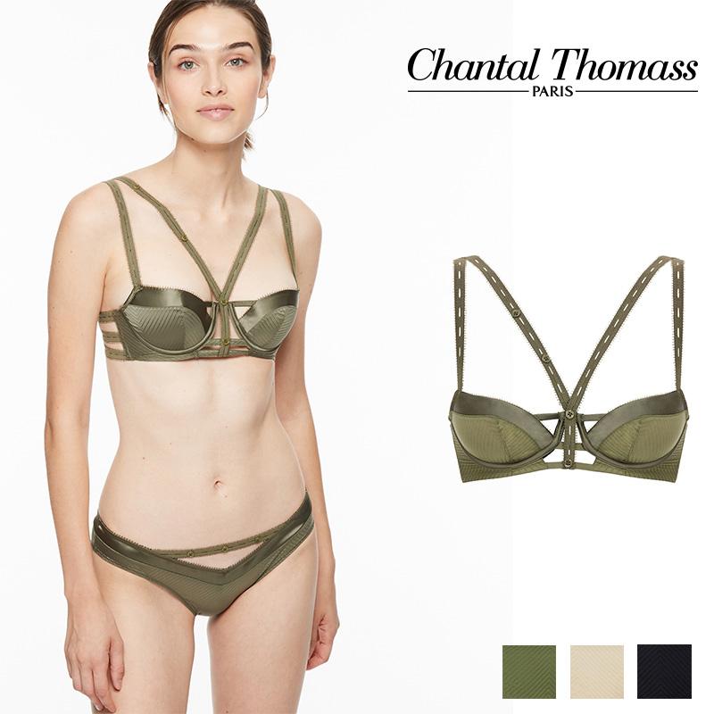 【新作】フランス【ChantalThomass】シャンタルトーマスTROUBLANTE パデッドブラ Khakiカラー (T01B20)