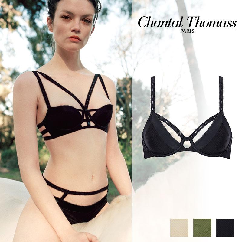 【新作】フランス【ChantalThomass】シャンタルトーマスTROUBLANTE ワイヤーブラ Blackカラー (T01B10)