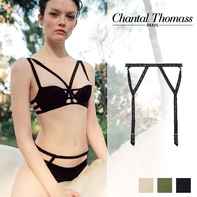 【新作】フランス【ChantalThomass】シャンタルトーマスTROUBLANTE ガーターベルト Blackカラー (T01B90)