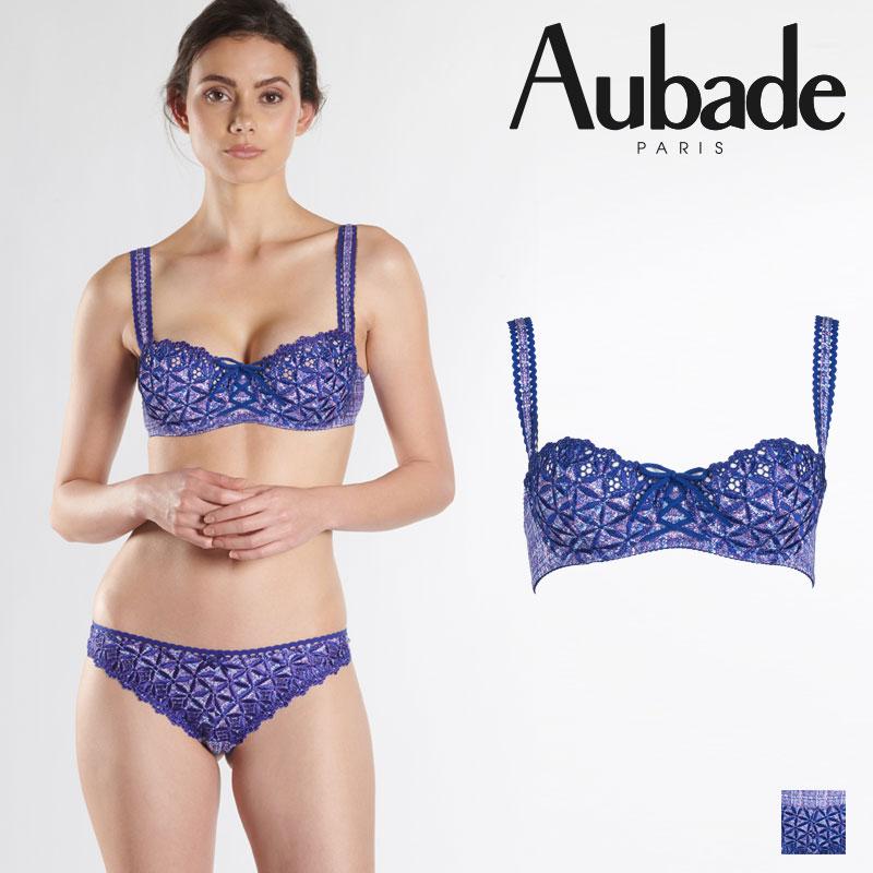 【50%オフ】【Aubade】オーバドゥ50 BAHIA ハーフカップブラ Tweedカラー(5014-9)