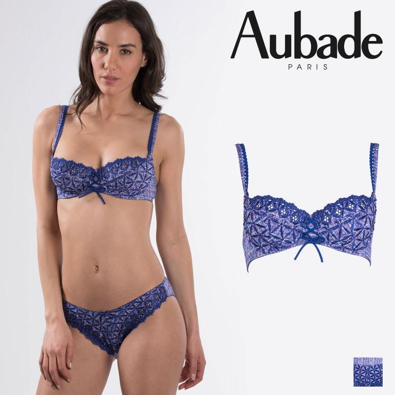 【50%オフ】【Aubade】オーバドゥ50 BAHIA 3/4カップブラ Tweedカラー(5015-9)