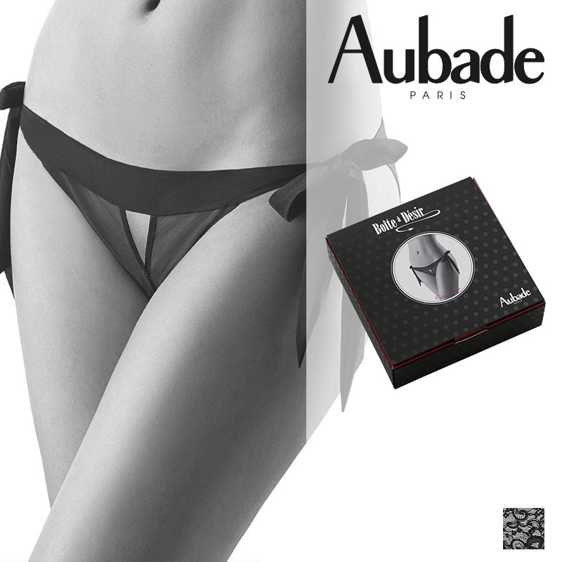 フランス【Aubade】オーバドゥBOITE A DESIRオープンアップビキニ(P028)ギフトボックス入り