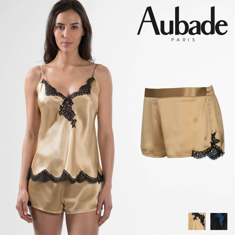 【30%オフ】【Aubade】オーバドゥMS SOIE D' AMOUR キュロット Or Noirカラー(MS61)