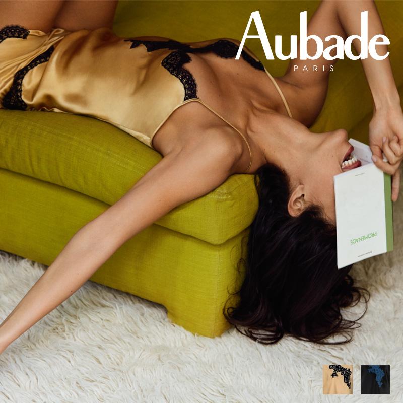 【30%オフ】【Aubade】オーバドゥMS SOIE D' AMOUR キャミソール Or Noirカラー(MS38)