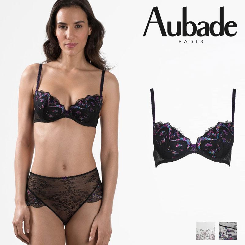 【30%オフ】フランス【Aubade】オーバドゥFemme Romantique(フェム ロモティク)モールドパデッドブラEカップ(MB08-N)Noir Venusカラー