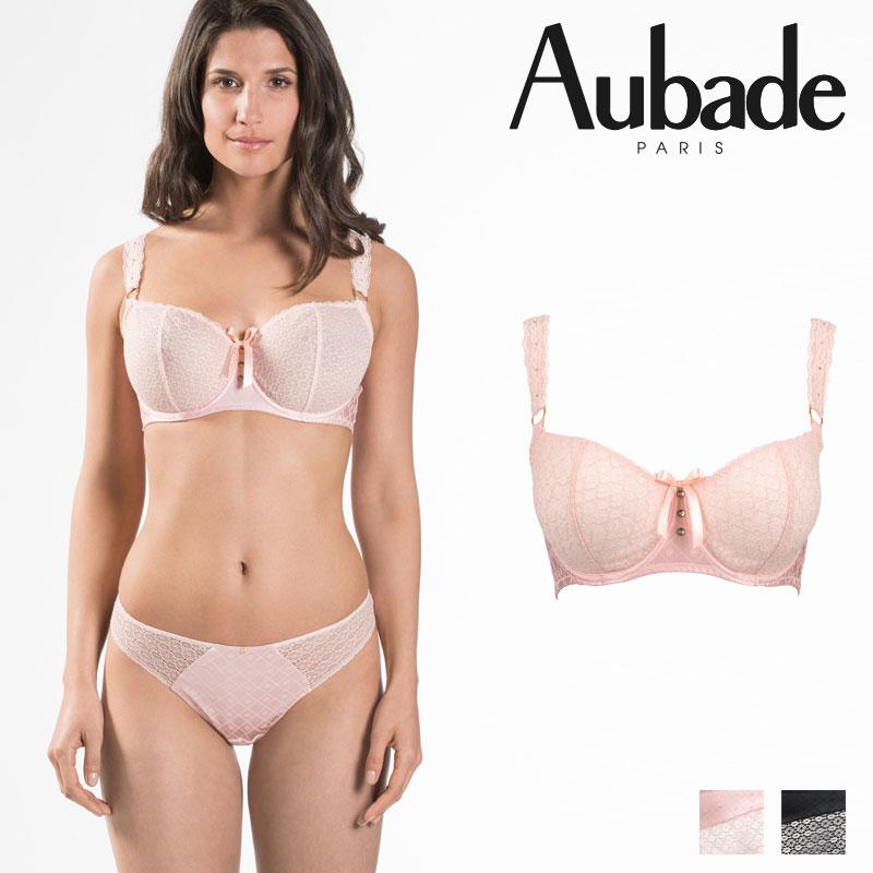 【50%オフ】【Aubade】オーバドゥFemme Aubade(フェム オーバドゥ)コンフォートハーフカップブラ BISCUITカラー(MC14e-02)