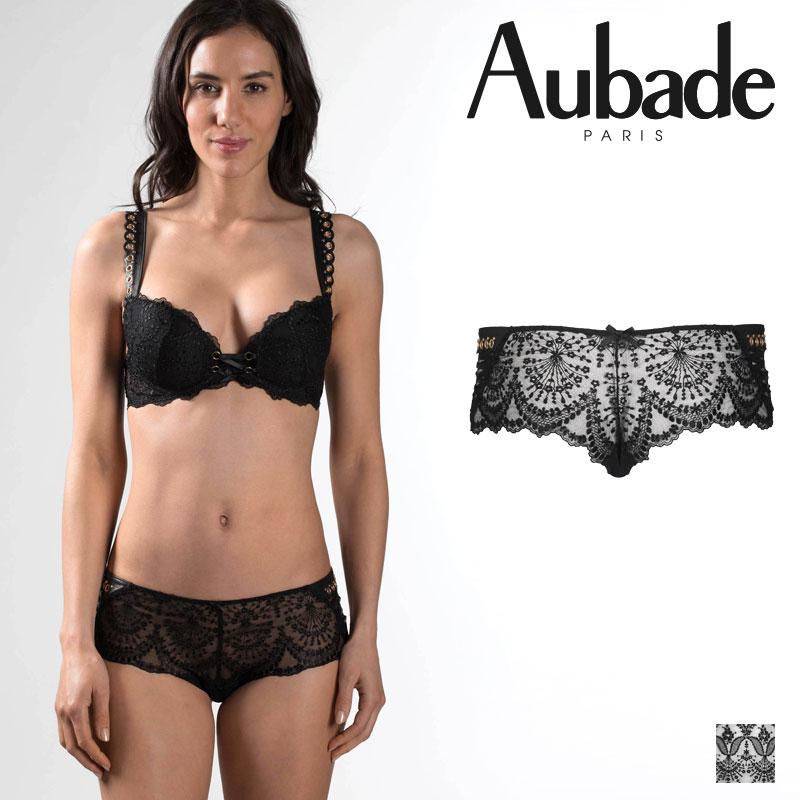 【30%オフ】【Aubade】オーバドゥME FEMME SENSUELLE ボクサー Blackカラー(ME70)