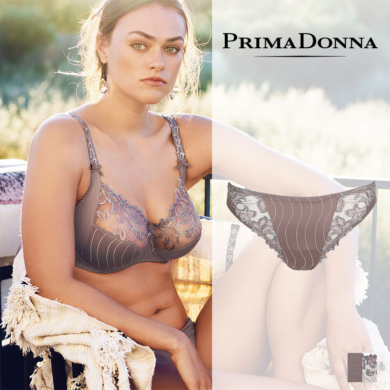 【50%オフ】老舗ランジェリーブランド【Prima Donna】プリマドンナDEAUVILLE(ドーヴィル)ブラジリアンショーツ(056-1810)Smoky-Sandカラー