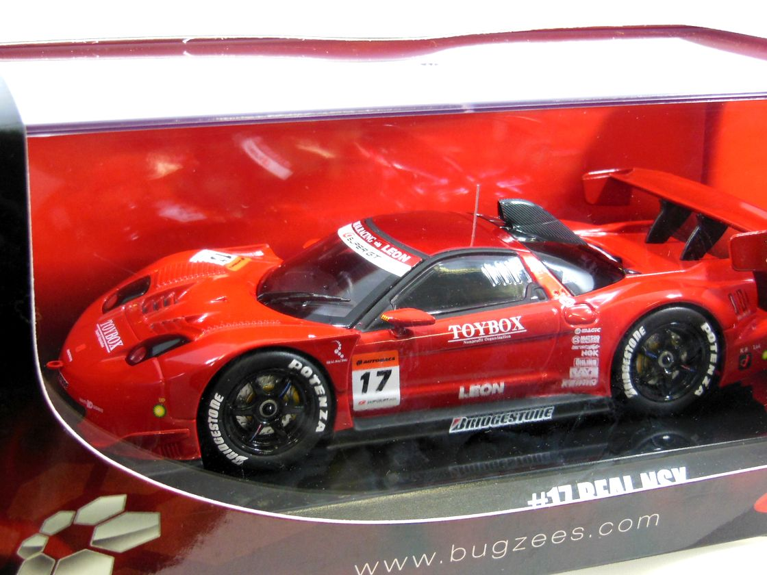 Bugzees 压铸玩具汽车 1/32 超级 GT 2008 GT500 # 17 真正 NSX 本田 NA1 官方模型车超级跑车超级 GT P16Sep15