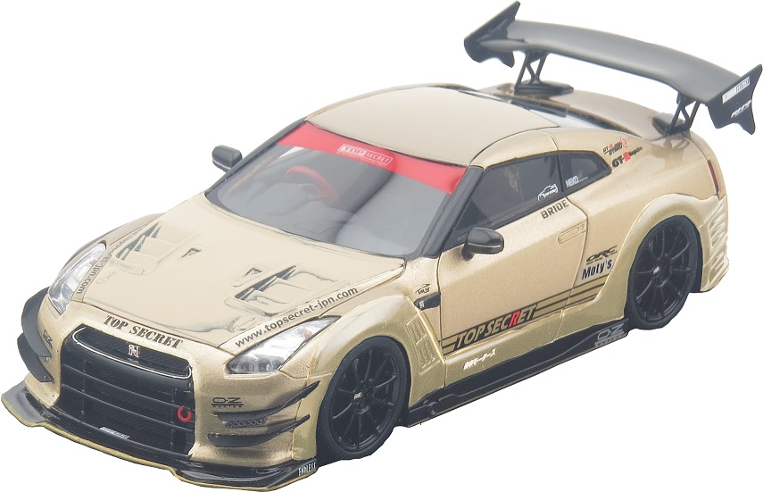 【日本製】 1/43 Tiger スーパーカー Gate Japan(タイガーゲートジャパン製) ミニカー R35 自動車模型 TOP SECRET GT-R CAR MODEL TOP SECRET GOLD 自動車模型 ミニカー レーシングカー スーパーカー, 軽井沢町:7a78637a --- promotime.lt