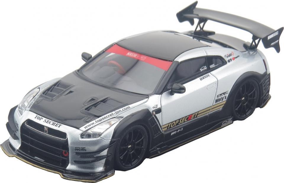 1/43 Tiger Gate Japan(タイガーゲートジャパン製) R35 TOP SECRET GT-R CAR MODEL TOP SECRET 銀 自動車模型 ミニカー レーシングカー スーパーカー