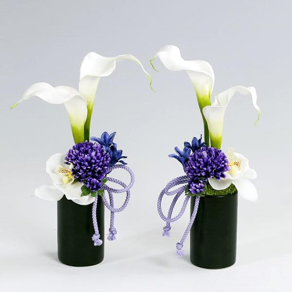 仏壇用 造花 仏花 カラコレス・メモリアルアートフラワー 祈りミニ(一対)