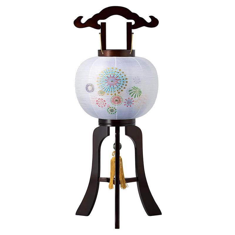 本体天然木民芸塗りで外絹張り二重の高級回転行灯です。 盆提灯|木製回転行灯 天然木民芸塗10号ブラウン色