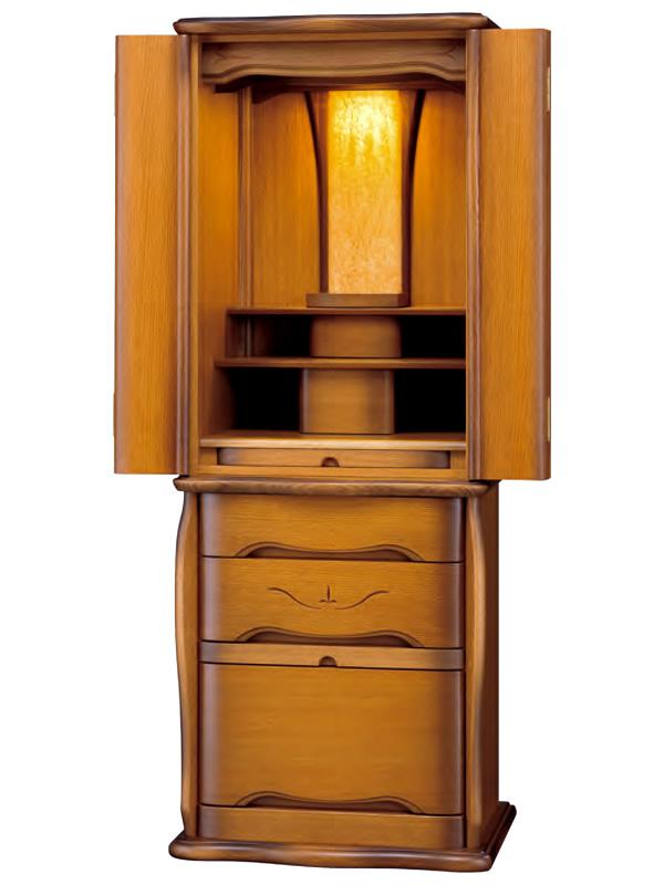 モダン仏壇 家具調仏壇 アリス47号ホワイトオーク(高さ:145.2cm 幅:56.5cm)