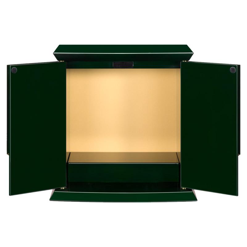 厨子 ミニ仏壇 つかさグリーン(高さ:25.5cm 幅:25.5cm)