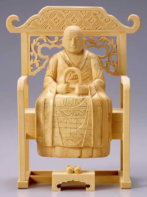 仏像 承陽大師/道元禅師 2.5寸 柘植製 【適合宗派:曹洞宗】