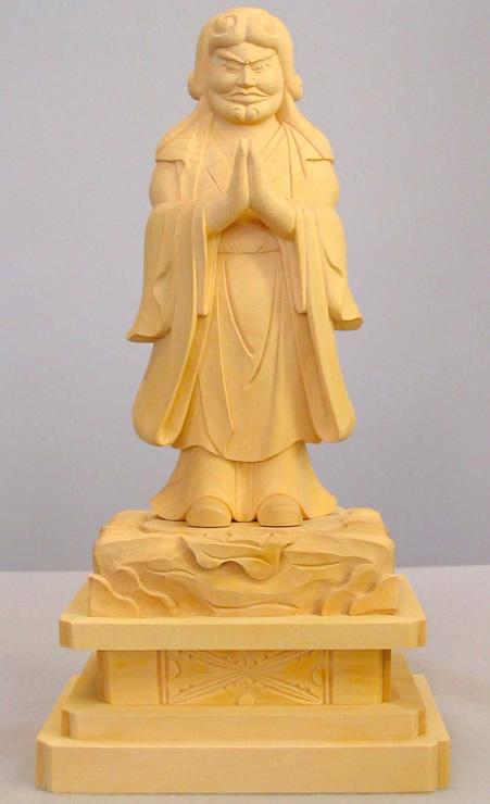 仏像 中山鬼子母神 4.5寸 柘植製 【適合宗派:日蓮宗】