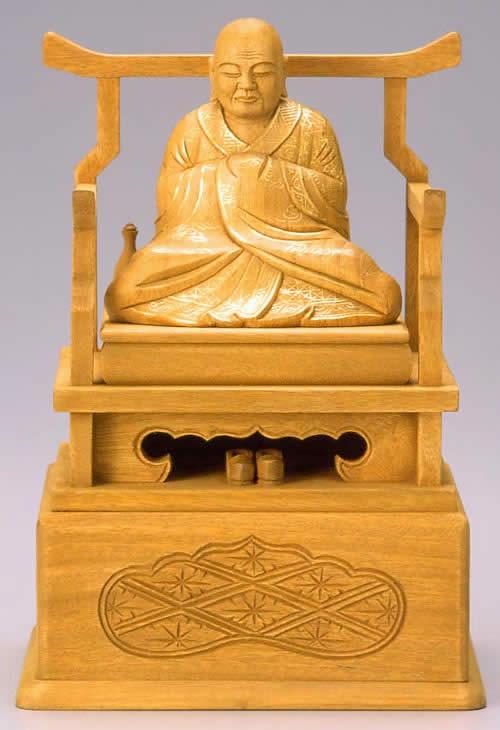 仏像 興教大師 2.5寸 樟製 【適合宗派:真言宗】