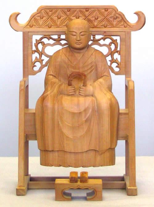 仏像 承陽大師/道元禅師 2.5寸 白檀製 【適合宗派:曹洞宗】