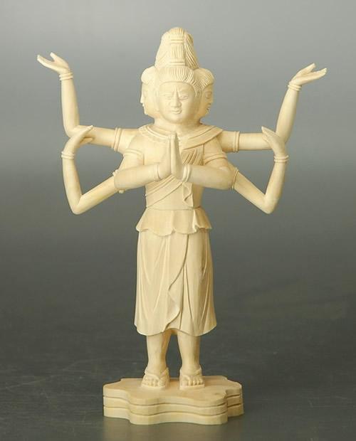 仏像 阿修羅 柘植製 4.0寸
