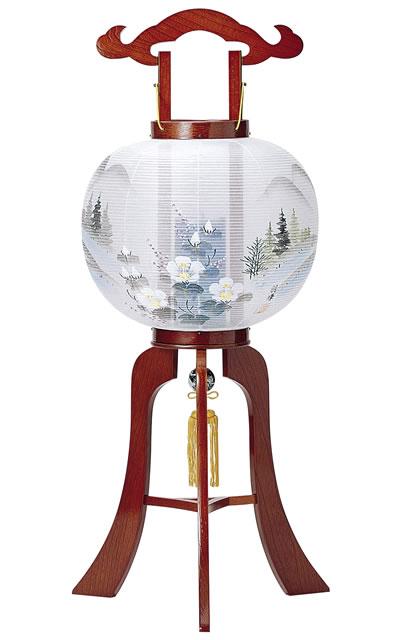 盆提灯|木製回転行灯 洛陽10号絹張