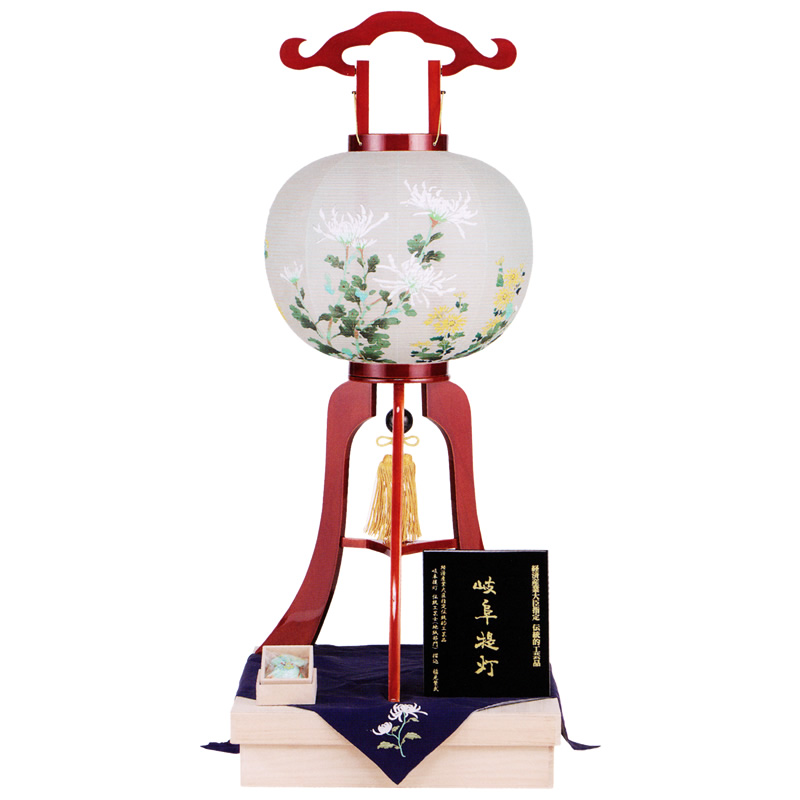 盆提灯|大内行灯 春慶12号「大輪菊」