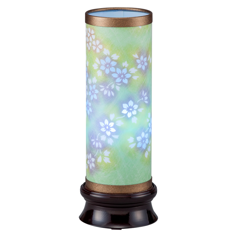 現代に調和した新しい形の盆提灯です。LEDレインボー電球がゆっくりと7色に変化します。 盆提灯 インテリア提灯 和風行灯 【 美春1号 桜 】レインボーLED