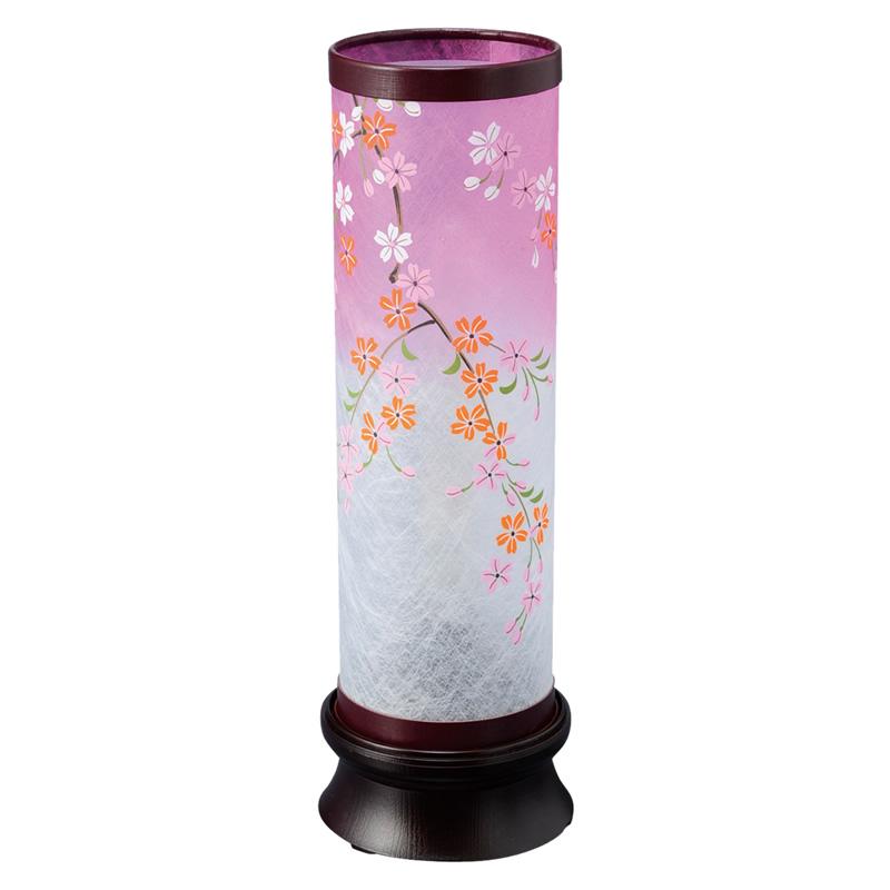 現代に調和した新しい形の盆提灯です。和にも洋にも自然に空間にとけ込み、やすらぎに満ちたあたたかい光を創ります。 盆提灯 インテリア提灯 和風行灯 【 桜あんどん 】 レインボーLED付(No.7419)