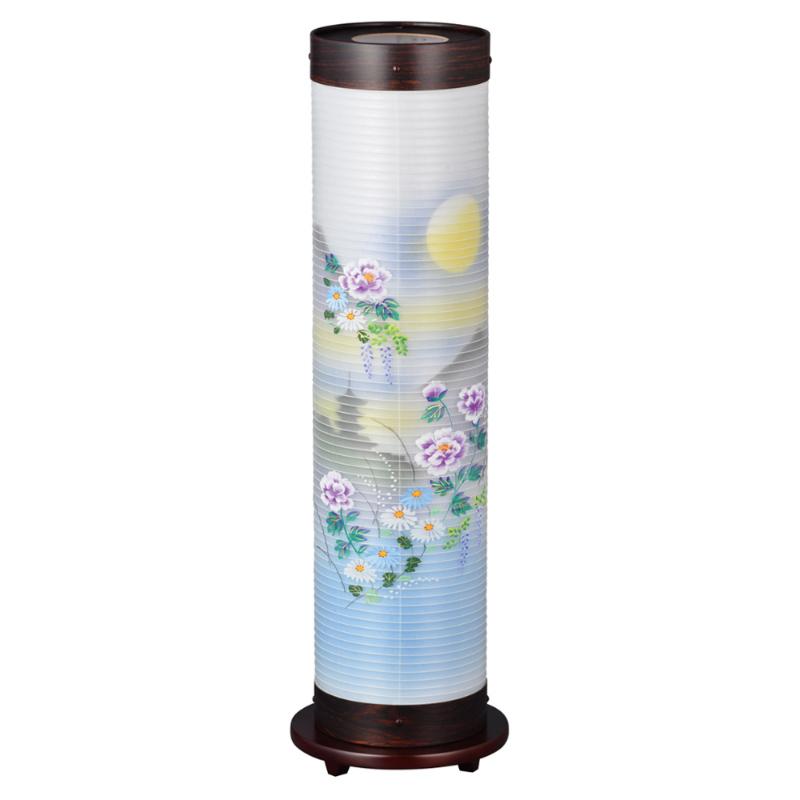 現代に調和した新しい形の盆提灯です。和にも洋にも自然に空間にとけ込み、やすらぎに満ちたあたたかい光を創ります。 盆提灯 インテリア提灯 煌(きらめき)14号 牡丹中月に塔 No.944