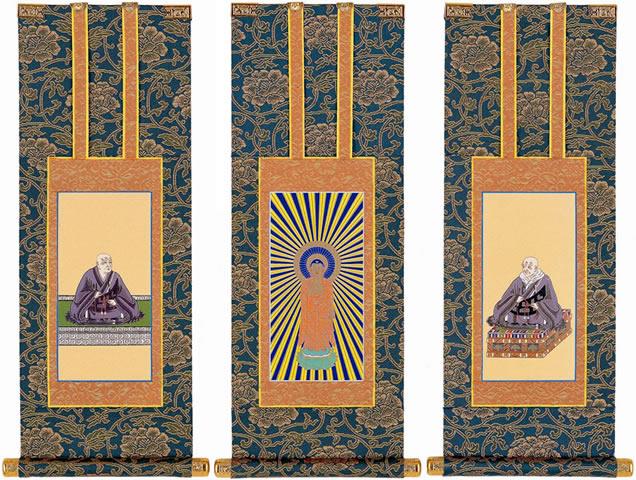 あらゆる仏壇に最適な色調の仏壇用掛け軸です 仏壇用掛軸 数量限定 100代 セール 特集 浄土真宗本願寺派