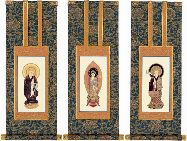 仏壇用掛軸 浄土宗 100代