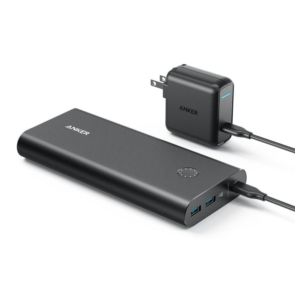 Anker PowerCore+ 26800 PD (Power Delivery対応 26800mAh モバイルバッテリー)【USB-Cポート搭載 / USB-C急速充電器付属 / PSE認証済】