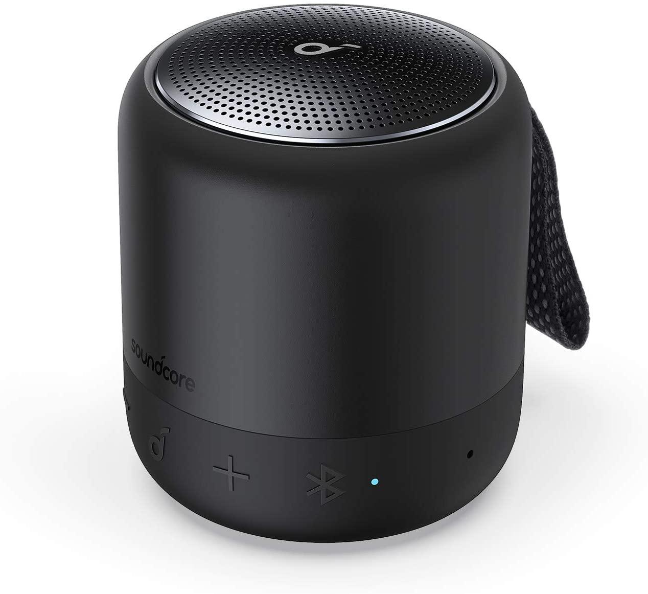 スピーカー anker ブルートゥース スマートフォン 新品未使用 ワイヤレス おしゃれ Bluetooth Anker Soundcore コンパクト 2020 新作 USB-Cポート採用 PartyCast機能 BassUpテクノロジー Mini IPX7防水 イコライザー設定 3 15時間連続再生