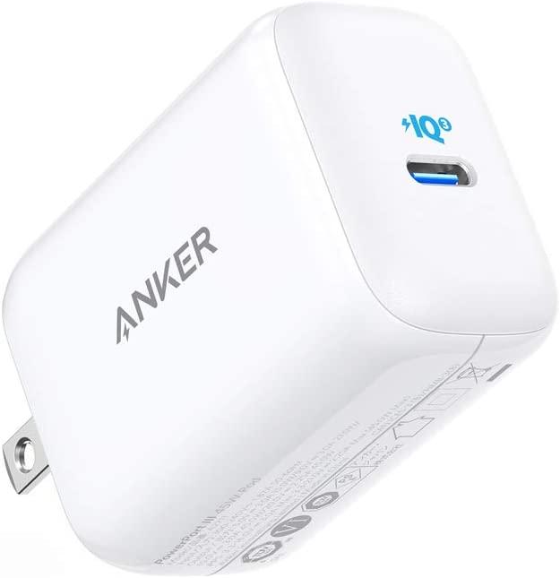 Anker PowerPort III 45W Pod PD 充電器 USB-C おすすめ その他USB-C機器対応 PSE技術基準適合 MacBook 折りたたみ式プラグ 授与 iPad PPS規格対応 Android各種 iPhone