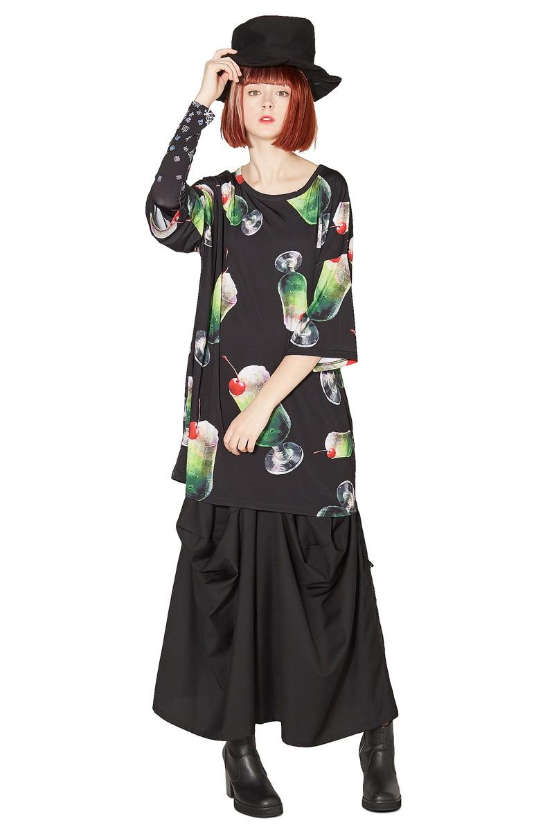 ankoROCK アンコロック ビッグ Tシャツ メンズ カットソー レディース ワンピース ユニセックス 服 ブランド 半袖 大きいサイズ ビッグシルエット 黒 緑 ブラック グリーン プリント 柄 クリームソーダ