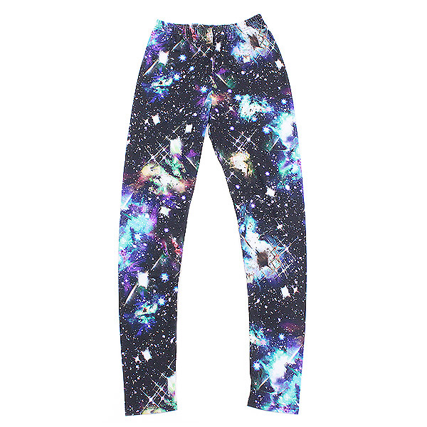 ankoROCK Galaxy leggings / men's tights ladies spats パギンス レギパン stretch space pattern leggings pattern Cosmo pattern 10-length transcription print colorful leggings General Blue Blue pattern flashy personality アンコロック Hara-Juku system live costumes stage S