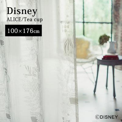 カーテン 既製カーテン 既製サイズ レースカーテン ボイルカーテン レース 薄手カーテン 洗える 日本製 ALICE IN WONDERLAND ディズニー disney スミノエ おしゃれ アンミン / ALICE (アリス) アリス ティーカップ 100×176cm