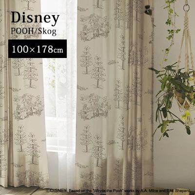 カーテン 既製カーテン 既製サイズ ドレープカーテン 厚手カーテン 遮光3級 洗える 形状記憶 日本製 Winne the Pooh ディズニー disney スミノエ おしゃれ アンミン / POOH (プー) プーさん スコーグ 100×178cm