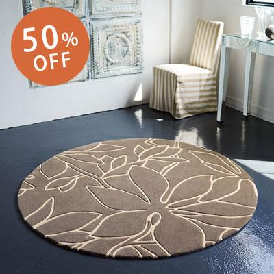 50%OFFセール ラグ ラグマット カーペット 絨毯 直径150cm 円形 東リ リビング 北欧 モダン 送料無料 ホットカーペット対応 ラグカーペット マット アンミン / TOR3645
