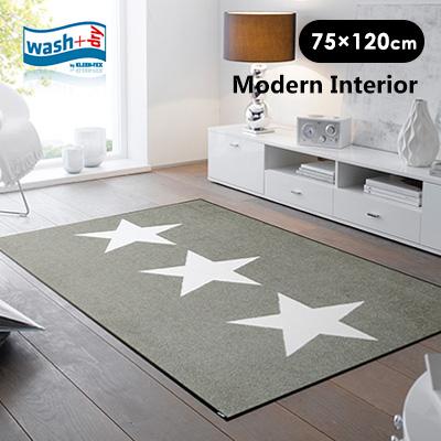 玄関マット wash+dry(ウォッシュアンドドライ) Love Stars sand/75×120cm 屋外 室内 北欧 アンミン