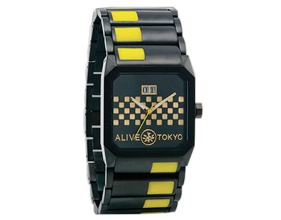 アライブ アスレティックス 腕時計 メンズ 日本製 ALIVE ATHLETICS OCTAGON BLACK 送料無料 あす楽対応